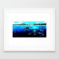 nemo Framed Art Prints featuring nemo by Marwan Baghdadi