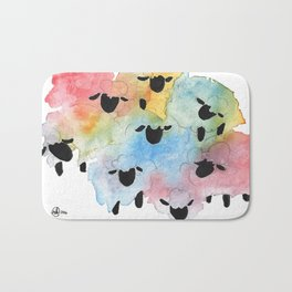 Flock of Many Colors Bath Mat