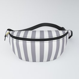 Pantone Lilac Gray & White Stripes, Wide Vertical Line Pattern Fanny Pack