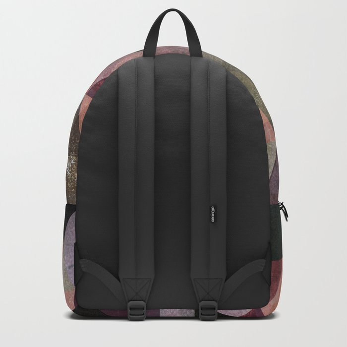 Abstract #482 Triangle Collage Backpack