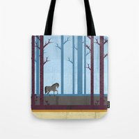 woods Tote Bags featuring Woods by Kakel