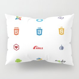 Programming Logos / Symbols Pillow Sham