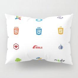 Programming Logos / Symbols Pillow Sham