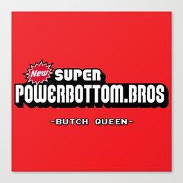 BQ - Super Power Bottom Bros Canvas Print