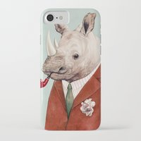 rhino iPhone & iPod Cases featuring Rhino by Animal Crew