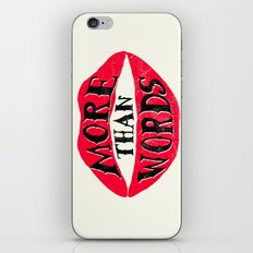 More Than Words iPhone Skin