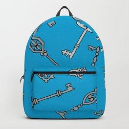 Skeleton Keys Blue Backpack