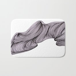 Abstract organic line drawing doodle Bath Mat