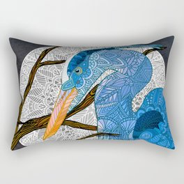 Egret Moon Rectangular Pillow