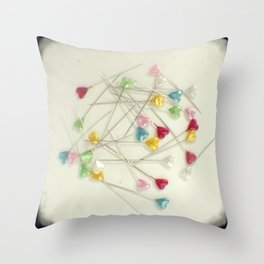 I heart pins Throw Pillow