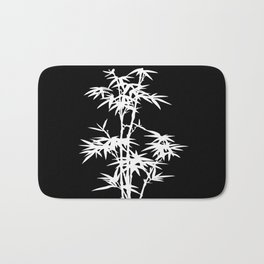 Black and White Bamboo Silhouette Bath Mat