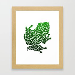 100 Poison Frogs - Green Framed Art Print