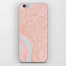 Vientiane map, Laos iPhone Skin