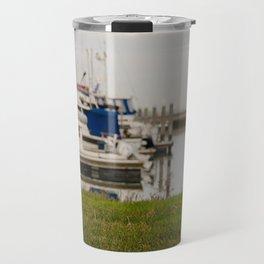 Girl At The Pier Travel Mug