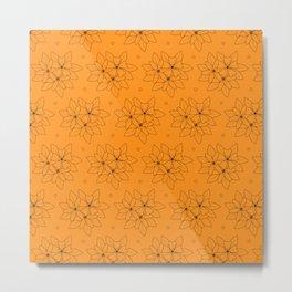 Floral love spread orange Metal Print