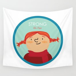 Strong like Pippi Wall Tapestry