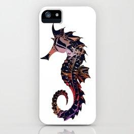 Art seahorse print iPhone Case