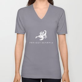 Project Scorpio White Unisex V-Neck