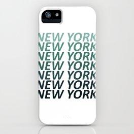 New York Green Haze iPhone Case