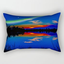 North light over a lake Rectangular Pillow