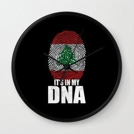 It's In My DNA Lebanon Wall Clock