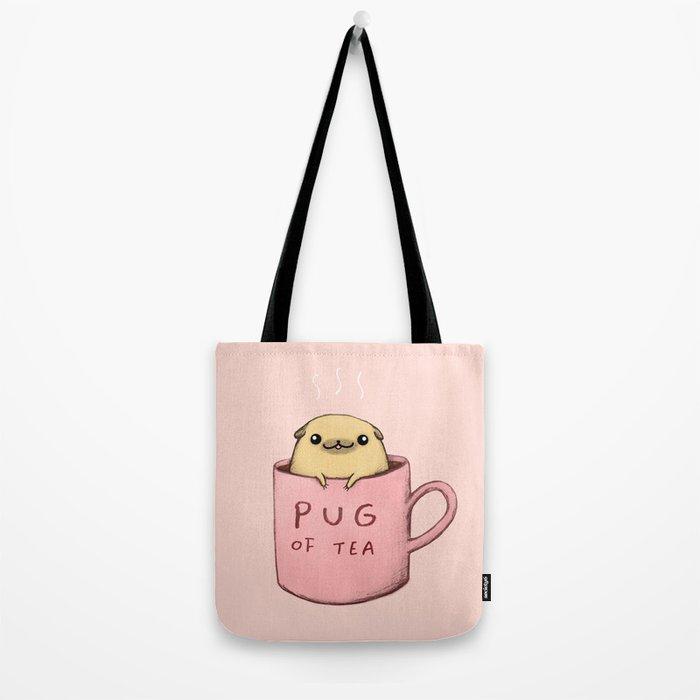 Pug of Tea Tote Bag