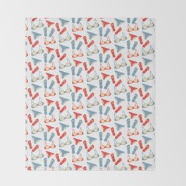 Pattern with swimsuits Throw Blanket