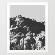 Black & White Mountains Art Print