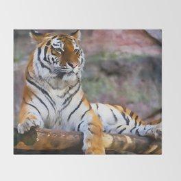 Regal Tiger Throw Blanket