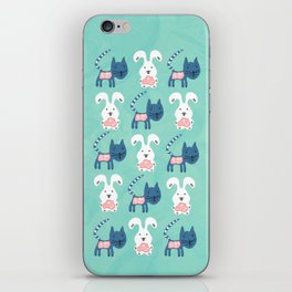 Inside Cat and Bunny iPhone Skin