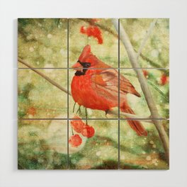 Cardinal Wood Wall Art