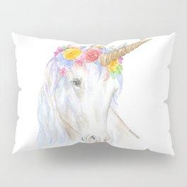 Unicorn Watercolor Painting Pillow Sham