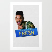 fresh prince Art Prints featuring Fresh Prince by MartiniWithATwist