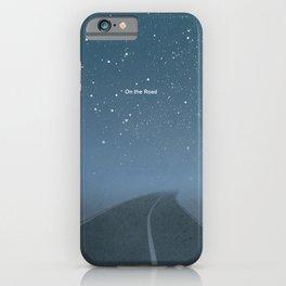 "Jack Kerouac ""On the Road"" - Minimalist literary art design, bookish gift iPhone Case"