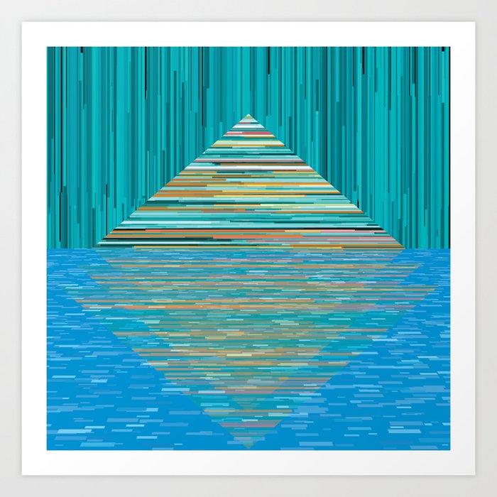 Mountain Lake Abstract Art Print