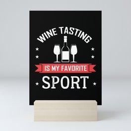 Wine tasting wine glass wine taste Mini Art Print