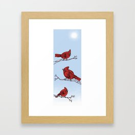 Winter Cardinals  Framed Art Print
