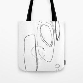 "Minimalist Geometric Abstract Line Drawing - Mid Century Modern - ""Three and Three"" Tote Bag"