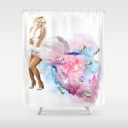 girls' farts smell like candy Shower Curtain