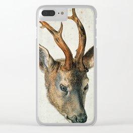 Albrecht Durer - Head Of A Roe Deer Clear iPhone Case