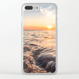 Seascape sunset view on the. Surface of water Clear iPhone Case