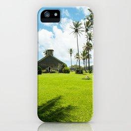 Lanakila 'ihi'ihi O Iehowa O Na Kaua Church Keanae Maui Hawaii iPhone Case