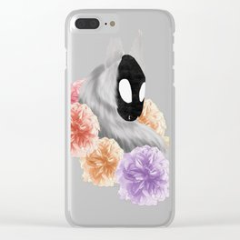 Flowered Demon Clear iPhone Case
