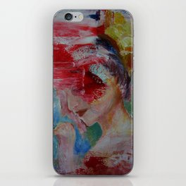 abstract figurative 2 iPhone Skin