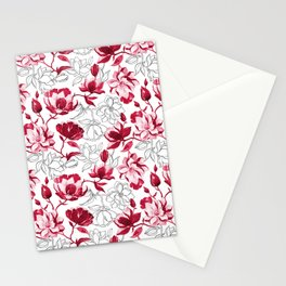 Red Magnolia Stationery Cards