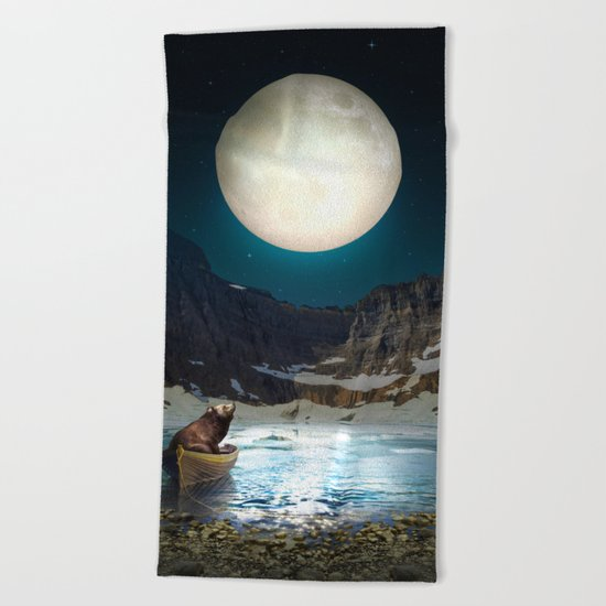 Somewhere You Are Looking At It Too II Beach Towel