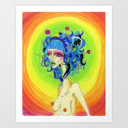 Medusa Has a Candy Coating Art Print