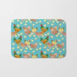 Hens and Chicks Bath Mat