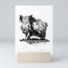 Wildschwein Mini Art Print