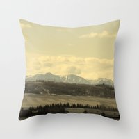 canada Throw Pillows featuring Canada by J.Sowden